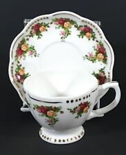 Royal Albert Old Country Roses Tea Cup Saucer Set Golden Pearl Porcelain China