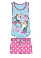 Ladies Women Snow White Seven Dwarfs Pyjamas PJs Shorts Summer Nightwear Vest