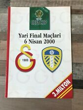 GALATASARAY V LEEDS UNITED UEFA CUP SEMI-FINAL FIRST LEG MATCH PROGRAMME 2000