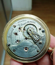 Freshly Serviced Illinois 18s 24j Pennsylvania Special Pocket Watch!