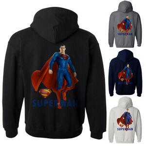 NWT SUPERMAN SUPERHERO JUSTICE LEAGUE COMICS MEN'S HOODIE SWEATSHIRT 197