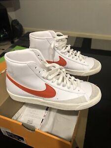 Nike Blazer Mid 77 VNTG US10.5 | White | Mantra Orange | Worn Once | New in Box