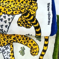 2 Hermes Leopard/Cheetah Designer Thick beach towels - RARE - Excellent Cond!