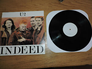 U2 INDEED LP SELF AID DUBLIN 17/05/1986 LP BLACK VINYL