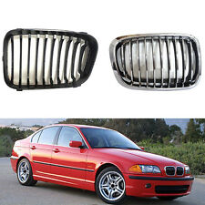 Front Grille Grill Chrome  For BMW E46/316i/318i/ 320i/ 325i 1998-2001