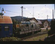 X1238 - Dia 35mm slide original: Eisenbahn Tsjechien 2002, CD Zug ENTGLEIST!!