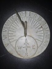 "Vintage Sun Dial 7-5/16"" Round. Pre Owned made in Taiwan vintage metal roman #s"