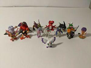 Lot of 14 Bandai Digimon mini action figures season 2 & 3
