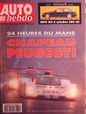 auto hebdo 1992 24 H DU MANS / TOYOTA MR 2.0 GTi 16 / HONDA CIVIC CRX VTi