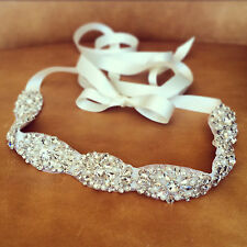 "Wedding Dress Sash Belt - Crystal Pearl Sash Belt = 18"" long = BIG SALE!!"
