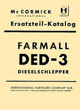 Ersatzteilliste für Mc Cormick Traktor FARMALL DED-3 DED3