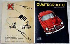 Quattroruote - Numero Uno originale del Febbraio 1956, in condizioni ottime.