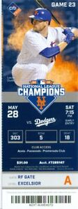 2016 Mets vs Dodgers Ticket: Chase Utley 2 HRs including Grand Slam/Seager HR