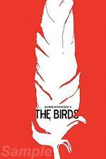 Les oiseaux vintage movie poster A4