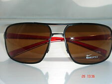 Nike AXON Sunglasses Matte Black/Crystal Red/Brown Lens EVO607 062 Sport