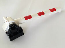 *NEW* Lego DUPLO Red White TRAIN CROSSING CROSSBAR with BLACK BASE