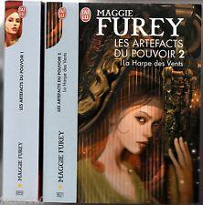 MAGGIE FUREY ° LES ARTEFACTS DU POUVOIR 1&2  AURIAN/LA HARPE DES VENTS ° J'AI LU