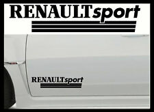 2 X RENAULT SPORT LARGE VINYL CAR STICKERS DECALS MOD Body panel,Glass, Graphic,