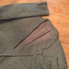 CORNELIANI ITALY  Wool Silk Cashmere Coat 3 Button Black Grey Jacket Men's US 48