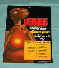 vintage REESE'S PIECES candy retail store display E.T. STICKER OFFER