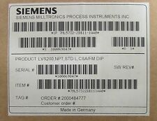 SIEMENS LVS200 NPT STD L CSA FM DIP SITRANS LVS 200 Vibrating Level Switch