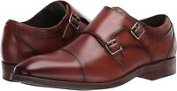 STACY ADAMS Men's Bayne Cap-Toe Double Monk Strap Loafer, Cognac, Size  fTCk