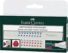 Faber-Castell GRIP Wallet of 4 Whiteboard Round Tip Marker