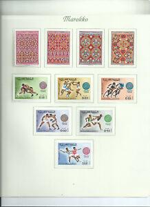 Marokko - ab 1968 - 5  Seiten auf Borek Vordrucken - ungestempelt mit Falz