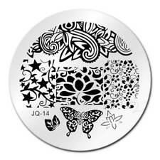 Round Nail Stamping Plates Manicure Pedicure Nail Art Q14