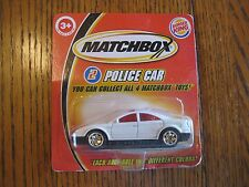 #2 Police Car Collectible Mattel Matchbox Burger King Big Kids Premium NIP