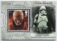 2018 Star Wars Masterwork Stamp S-SP Captain Phasma Supreme Leader Snoke 071/200