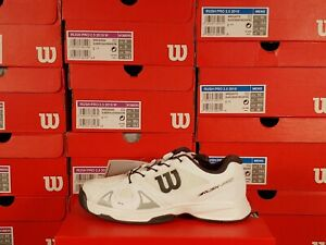 Wilson Rush Pro QL White on White Junior Tennis Shoes Youth Size 3.5