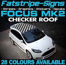 FORD FOCUS MK2 GRAPHICS CHECKER ROOF CAR STRIPES DECALS STICKERS ST RS 1.6 2.0