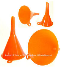 FUNNELS S M L XL (4) Tools Hobby Crafts Auto Home Model Train Funnel Set New i