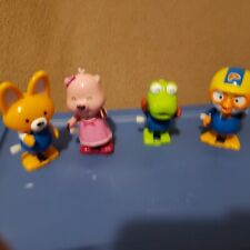 Lot Of Four Little Plastic Wind Up Walking Animal Toys