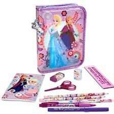 Official Disney Store Frozen Soft Filled Pencil Case Stationery Colours Pens Set