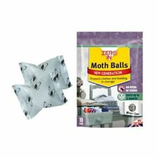 Zero In Moth Balls Protects Clothes Bedding in Storage Wardrobes Bags Pack of 10