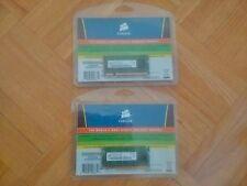 2 Corsair PC2-5300S 512MB SO-DIMM 667 MHz DDR2 SDRAM Memory (PC2-5300S-555-12)