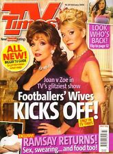 JOAN COLLINS  - ZOE LUCKER -  BRITISH Magazine TVTIMES dated February 2006 C#42