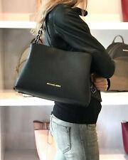 Michael Kors Sofia Portia Large Satchel Crossbody Bag Saffiano Leather Black