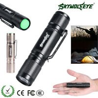 Outdoor Aluminum Mini Military LED Flashlight Portable Torch Lamp For AA Battery