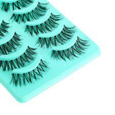5 Pairs Pretty Long Cross False Eyelashes Makeup Natural Fake Thick Eye Lashes