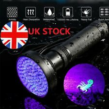 Torch Uv Light Led Ultra Violet Flashlight Lamp Blacklight Flash 100/51 LED UK