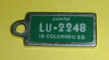 1959 Colorado DAV Disabled American Vet Keychain Tag Miniature License Plate