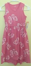 New $36.95 Girl's Gymboree Pink Butterfly Dress Size 7 Cotton Sleeveless