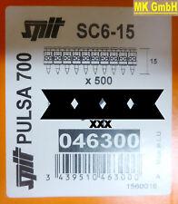 SPIT ACCESSORI: 500 chiodi sc6-15 per pulsa 700 + 800 P/E gasnagler, 15mm
