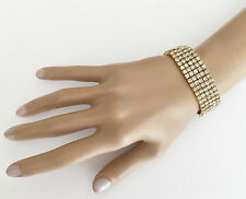 Beautiful Stretchy Diamante Gold Tone Bracelet Band