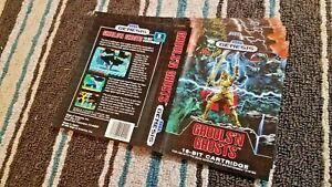 BOX ART ONLY Ghouls N' Ghosts Original Sega Genesis Case Sleeve