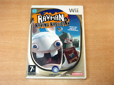 Nintendo Wii - Rayman : Raving Rabbids 2 by Ubisoft / MINT / New / Sealed