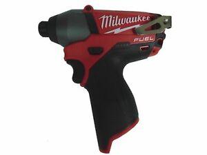 "New Milwaukee 2453-20 FUEL M12 1/4"" Hex Impact Driver Bare Tool"